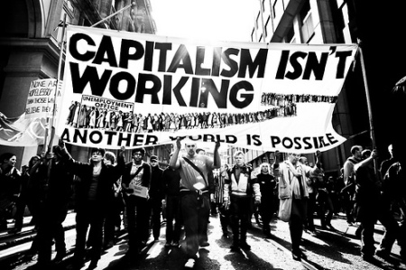 anti-capitalist protest