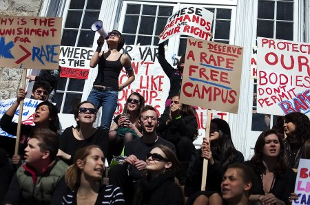 campus rape protest